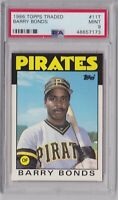 1986 Topps Traded #11t Barry Bonds Rookie PSA 9 Mint RC