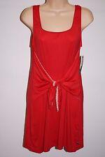 NWT Tommy Hilfiger Swimwear Bikini Cover up Dress Sz XS Tomato