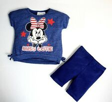 NEW Baby Girl Minnie Mouse Short Sleeve T-shirt Top & Shorts SET Size NB.6M.9M.2