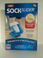Sock Slider Aid Helper Easy On&Off Pain Shock Horn Long As Seen On TV New