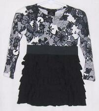 New FLOWERS BY ZOE PARTY DRESS 12M baby girls BLACK LACE FANCY HOLIDAY CHRISTMAS