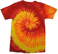 Colortone TD02M Rainbow Tie-Dye Mens Cotton T Shirt Tee Colorful Fashion Tshirts