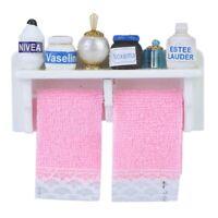 1:12 Mini Doll House Bathroom Wall e Mini Miniature House Furniture Accesso1:12