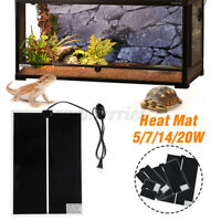 Aquarium Reptile Vivarium Heating Mat Warm Heater Pad with Temperature