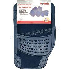 4pc Car Mat Set D/Blue Rubber with Carpet Floor Mats Heavy Duty Universal 81077C