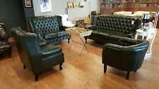 Chesterfield Sofagarnitur Couch Polster 4tlg Set Echtes Rindsleder Original NEU