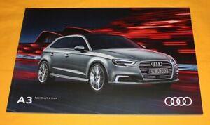 Audi A3 Sportback e-tron 2016 Prospekt Brochure Depliant Catalog Folder