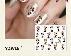 Dancing Minnie Mouse Nail Art Sticker Decal Decoration Manicure Water Transfer