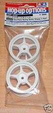 Tamiya 53232 One-Piece Racing Spoke Wheels (1 Pair) (TA02/TA03/TT01/TA04S), NIP