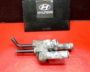 03-06 HYUNDAI ELANTRA ENGINE COOLANT THERMOSTAT HOUSING ASSY 8TH VIN D WO CVVT