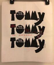 The Who's Tommy 1992 PROMO SAMPLE T-Shirt 2-Sided VINTAGE VTG HTF Rare