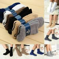 Womens Mens Winter Warmer Fluffy Soft Thermal Fleece Socks Lounge Bed Socks