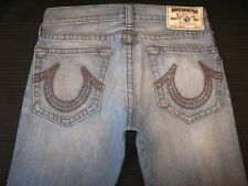 True Religion Jeans Men's Bobby Sz 33 x 29  Relaxed Straight Distressed