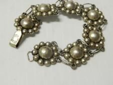 Bracelet - Old One ! Vintage Mexican Silver Link Panel