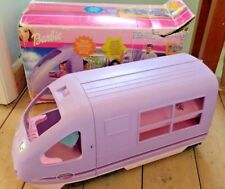 VINTAGE Barbie TRAVEL TRAIN MATTEL 2001 in scatola con un sacco di accessori