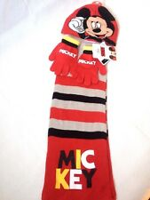 Official Mickey Mouse 3 Piece Winter Accessory Set Infant  2 - 4 Yrs R631-8
