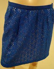 MARC BY MARC JACOBS Blue Cotton Blend Lace Lined Short Length Skirt Sz:4 UK8