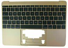 "New Apple MacBook Retina 12"" A1534 2015 Gold Palmrest Cover UK Keyboard"
