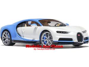 1:18 Welly GTAutos 2016 Bugatti Chiron Weiß/Französisch Rennen Blau (W/FRB)