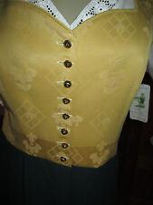 Brokat Trachten Dirndl  Kleid Gr.40  Tracht  gelb grün ohne Bluse , ohne Schürze