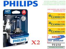 2 BOMBILLAS PHILIPS BLUE VISION H7 PX26d LAMPARAS 12V 55W ESPECIAL MOTO 10G
