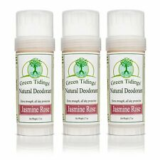 Green Tidings All Natural Deodorant- Jasmine Rose, 2.7 Ounces 3 Pack 15% Off