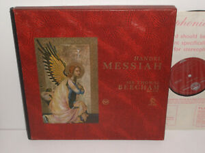 SER 4501/2/3/4 Handel Messiah RPO Beecham Grvd R/S 4LP Box Set