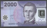 CHILE, 2000 2,000 PESOS  2009,  P162 , UNC POLYMER BANK NOTE