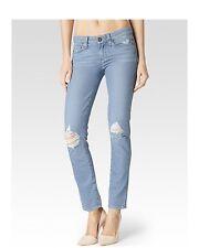 """Premium Paige """"Skyline Cheville Peg"""" Mid Rise déstructurée Denim Skinny Jeans 26"""