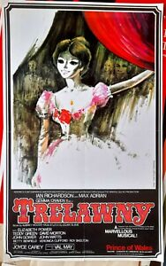 1972 POSTER Julian Slade musical Trelawny Prince of Wales Theatre Gemma Craven