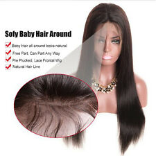Human Hair Wigs For Women Straight Glueless Lace Front Full Wig With Baby Hair