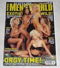 Mayfair MEN'S WORLD Rare Magazine Vol. 11 #10 UK! Vtg LEXUS LOCKLEAR TIA BELLA