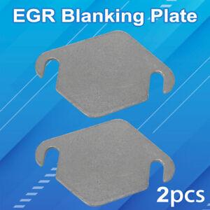2X EGR Blanking Plate For Ford TDCi VOLVO SUZUKI MAZDA dpf 1.4 1.6 Peugeot HDi