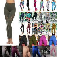Women's High Waist Yoga Pants Leggings Fitness Trainning Workout Gym Leggins