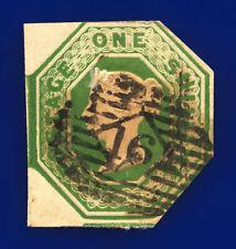 More details for 1847 sg56 1s deep green 1 margin h1(3) london good used cat £1200 djmm