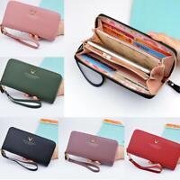 Women Leather Clutch Wallet Long Card Phone Holder Purse Box Ladies Handbag Bag
