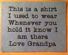 Keepsake Memory Embroidered Patch Custom Badge x5 This is the shirt I used to ..
