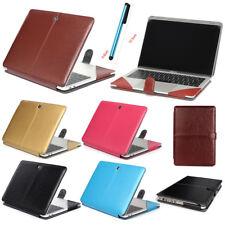 "Laptop PU Leather Case Folio Book Cover for MacBook Air Pro Retina 12"" 13"" 15"""