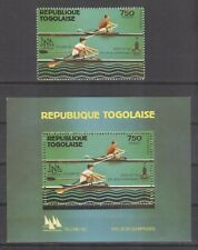 Togo Olympische Spiele Olympic Games 1980 Perforated stamp and block MNH Rowing