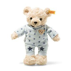 STEIFF Teddybär Junge mit Schlafanzug blau Sterne  27 cm NEU 109881