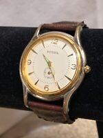 Fossil Ladies Watch Analog Quartz No Jewels Braided Leather Wristwatch TM-7260