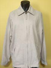 London Fog Womens Size PL Tan Khaki Suede Like Zip Up Jacket Coat