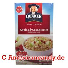 ANGEBOT: 1x 344g Quaker Oatmeal Apple & Cranberries USA MHD 5.2.2016 (17,41€/kg)
