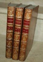 Homère - L'Illiade en 24 chants. 3 vol reliés (1776)