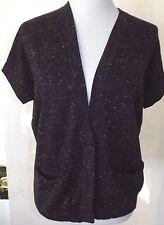 GAP Size XS Sweater Vest Purple Speckle Knit Dolman Sleeve Pocket Cardigan Women