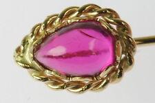 Ladies 14K Yellow Gold Ruby Stick Estate Pin 135159