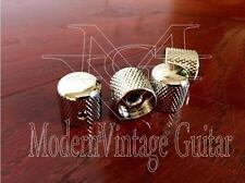 4  MVG SIFKNI Vintage Guitar Metal Flat Top NICKEL Volume Knobs Knurled