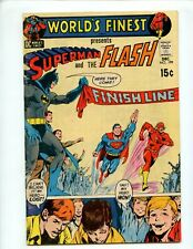 World's Finest #199 (1970) 3rd Race Superman and Flash VG+