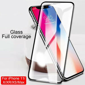 For IPhone 12 11 Pro Max X XR 8+ Full Cover Real Tempered Glass Screen Protector