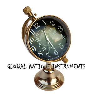 Vintage Style Brass Desk Clock Table Clock Antique Style Double Sided Clock Gift